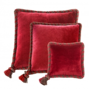 Pillow Christallo set of 3 red