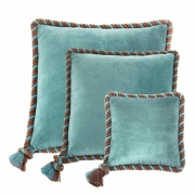 Pillow Christallo set of 3 aqua blue