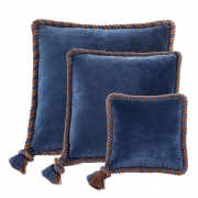 Pillow Christallo set of 3 marine blue
