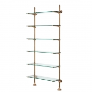 Wall Cabinet Pulitzer Single brass