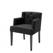 Dining Chair Boca Raton with arm black