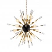Chandelier Tivoli S black/brass