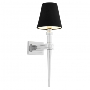 Wall lamp Waterloo Single nickel