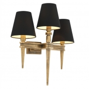 Wall lamp Waterloo Triple brass