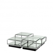 Coffee Table Tortona set of 4 steel