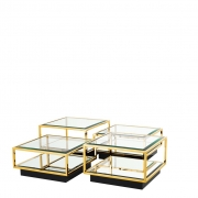 Coffee Table Tortona set of 4 gold