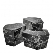 Coffee Table Prudential set of 3 black