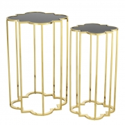 Side Table Concentric set of 2 gold