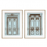 Prints French Salon Doors set of 2