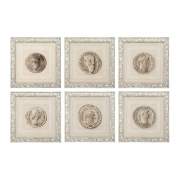 Print Roman Coins set of 6